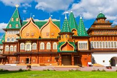 Wooden palace in Russia Stock Photography
