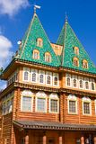 Wooden palace in Russia Stock Photo