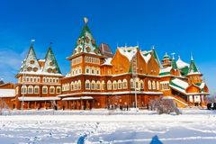 Wooden palace in Russia Royalty Free Stock Photos
