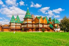Wooden palace in Russia stock image