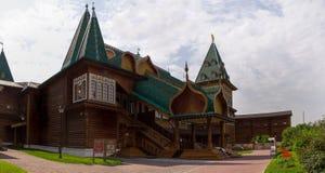 Wooden Palace of Russian kings in Kolomenskoye. Stock Image