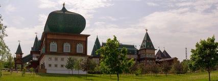 Wooden Palace of Russian kings in Kolomenskoye. Stock Photo