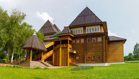 Wooden Palace of Russian kings in Kolomenskoye. Royalty Free Stock Photos