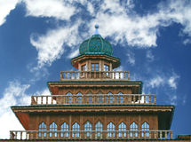 The wooden palace of Tsar Alexei Mikhailovich. Of the museum reserve Kolomenskoye, Moscow, Russia. Seventeenth century, recovery in August 2009. The territory Stock Photography