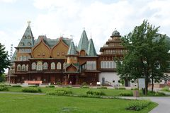 Wooden palace of Tsar Alexei Mikhailovich in Kolomenskoye Royalty Free Stock Photography