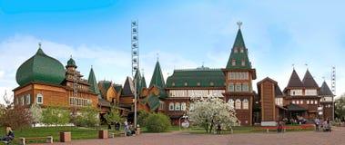 Wooden palace of Tsar Alexei Mikhailovich in Kolomenskoye. Mosco Stock Images