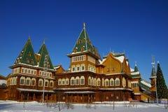 The wooden palace of Tsar Alexei Mikhailovich in Kolomenskoye pa Stock Photos