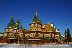 The wooden palace of Tsar Alexei Mikhailovich Stock Images