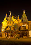 The wooden palace of Tsar Alexei Mikhailovich in Kolomna at night Royalty Free Stock Photos