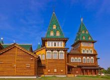 Wooden palace of Tsar Alexey Mikhailovich in Kolomenskoe - Mosco Stock Photos