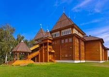 Wooden palace of Tsar Alexey Mikhailovich in Kolomenskoe - Mosco Royalty Free Stock Photo