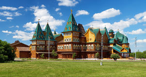 Wooden palace of tzar Aleksey Mikhailovich, Moscow stock photography