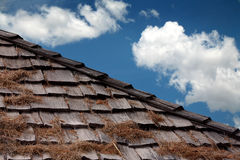Wooden palet roof Royalty Free Stock Photos