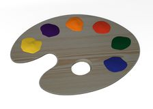 Wooden palette. 3d render of wooden palette Royalty Free Stock Photo