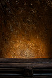 Wooden palette in front of rusty background. Old wooden palette in front of rusty background stock images