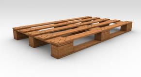 Wooden palette. Illustation of a Wooden palette made in 3D stock illustration