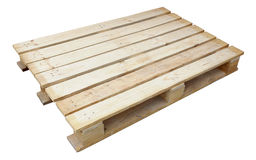 Wooden palette for stack Royalty Free Stock Image