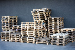 Wooden palette storage container Royalty Free Stock Image