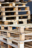 Wooden palette storehouse container Royalty Free Stock Photography
