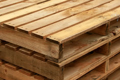 Wooden palettes Stock Image