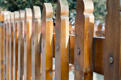 Wooden palisade Stock Images