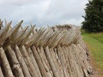 Wooden Palisade at Danish Dybboel War Museum Stock Photo