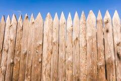 A wooden palisade Royalty Free Stock Photos