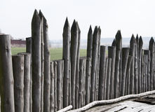 Wooden palisade Stock Image