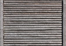 Wooden palisade wall usable as background or texture Stock Photos