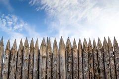 Wooden palisades Royalty Free Stock Image