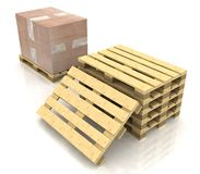 Wooden pallet Stock Photography