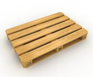 Wooden pallet. The wooden pallet on a white background vector illustration