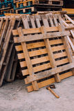 Wooden pallet and adze. Outside Stock Images