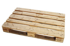 Wooden pallet. Against white background Royalty Free Stock Images