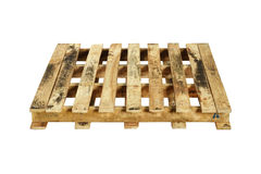 Wooden pallet. (with clipping path) isolated on white background Stock Image