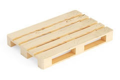 Wooden pallet, 3D rendering Royalty Free Stock Images