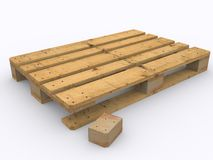 Wooden pallet damaged Stock Photo