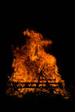 Wooden Pallet on Fire Stock Photo