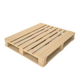 Wooden pallet. Isolated render on a white background Royalty Free Stock Image