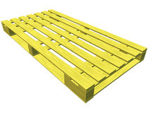 Wooden pallet. isolated on white. Royalty Free Stock Photography
