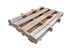 Wooden pallet. Isolated on white background Royalty Free Stock Photos