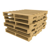 Wooden pallet Stock Image