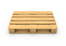 Wooden pallet isolated on white background Stock Photos