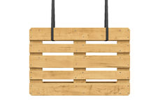 Wooden pallet isolated on white background Stock Image