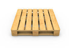 Wooden pallet isolated on white background Stock Images