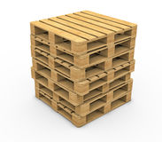 Wooden pallet isolated on white background Royalty Free Stock Photo