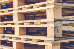 Wooden pallet overlap Royalty Free Stock Images