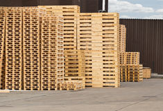 Wooden Pallet stack Royalty Free Stock Image