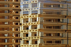 Wooden pallet. For transporting stacked Royalty Free Stock Photography