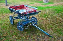 Wooden pallet truck as garden decor Royalty Free Stock Photos